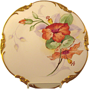 SALE Limoges Cabinet Plate Hand Painted Signed
