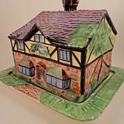 """SALE Vintage Royal Winton Grimwades """"Ye Olde Inne"""" Cottageware Toast/Biscuit Keeper"""