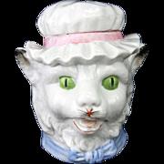 Antique German Porcelain Cat Bank ca1900