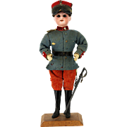 Antique German Bisque Head Soldier Boy Candy Container ca1910