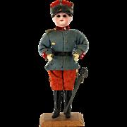 Antique German Bisque Head Soldier Boy Candy Container ca1910