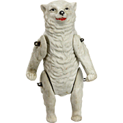 Antique German Bisque Jointed Polar Bear ca1910