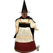 Antique German Wind Up Rolling Witch ca1910