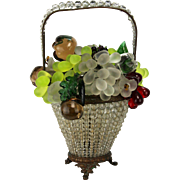 Vintage Large Czech Glass Fruit Lamp