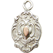 SOLD Stunning French Ornate Silver Antique Victorian Pocket Watch Fob Pendant Charm