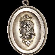 French Egyptian Revival Antique Art Nouveau Locket Pendant