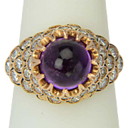 REDUCED Vintage Amethyst and diamond ring