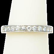 Art Deco 0.80 cwt diamond platinum wedding band US size 6