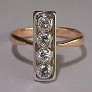 REDUCED Vintage diamond 0.40 twc  engagement ring/ wedding ring