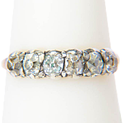 Antique Georgian six stone diamond ring