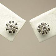 Estate diamonds 0.24ctw stud earrings