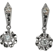 Diamond earrings 0.24 carat t.w. diamond  18 K gold circa 1920 s drop ...