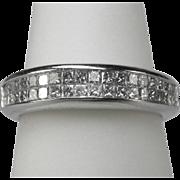 REDUCED Estate half-eternity diamond 0.70 tcw wedding band