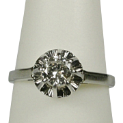 REDUCED Estate solitaire 0.35 CT diamond engagement ring