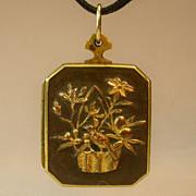 Antique Shakudo pendant-locket