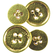 REDUCED Vintage double-sided buttons cuff links 18 k yellow gold