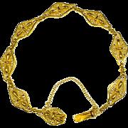 Antique Victorian/Art Nouveau bracelet 18 k yellow gold