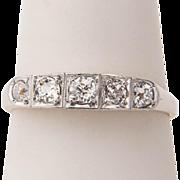 Antique ring Victorian diamond ring 0.45 cwt yellow gold 14 k circa 1890-1900