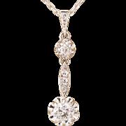 Art Deco diamond pendant platinum over 18 k white gold and its 18 k white ...