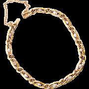 Antique Victorian diamond and pearl bracelet 18 k yellow gold circa 1890-1900