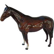 Large Beswick Race Horse Brown Figurine
