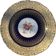 Exquisite Gold Encrusted George Jones Gold Floral Cabinet Plate28408