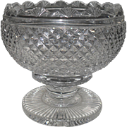 Timeless Waterford Crystal Footed Scalloped Rose Bowl
