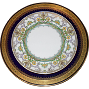 Eleven Antique Mintons Yellow Purple Turquoise Dessert Plates H3472