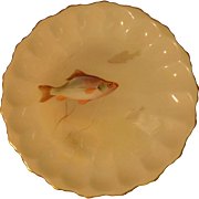Early Royal Doulton John Price Fish Cabinet Plate Chub 1891