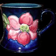 Rare Vintage Miniature Moorcroft Clematis Cobalt Tankard Mug