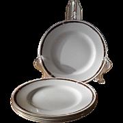 Wedgwood for Ralph Lauren Equestrian Bridle Trim Salad Dessert Plates (4)