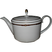 Wedgwood for Ralph Lauren Equestrian Bridle Trim Teapot 5 Cups