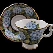 Royal Albert Bouquet Series Blue Hydrangea Teacup and Saucer