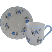 Miniature Shelley Blue Charm 13864 Teacup/Saucer Canterbury