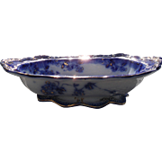 Gorgeous Early Ridgway Lugano Flow Blue Open Vegetable Dish