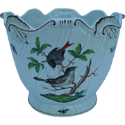 Herend Rothschild Bird Pattern Cachepot Planter Jardiniere