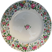 Vintage Chintz Crown Staffordshire Dinner Plate 1913