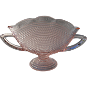 Pink Depression Glass Thousand Eye Pattern Fan Vase