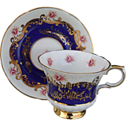 Vintage Gold Footed Paragon Pembroke Pink Sweetheart Rose Teacup and Saucer