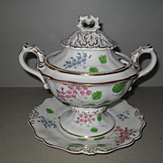Antique Rockingham Porcelain Sauce Tureen 1840
