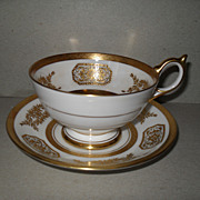 Outstanding Gold on Ivory Aynsley Cabinet Teacup/Saucer