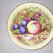 Elegant Aynsley Orchard Gold Fruit Plate D. Jones