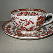 Copeland Spode Porcelain India Tree Teacup and Saucer
