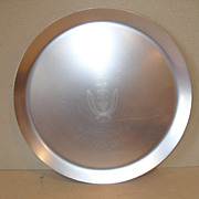 Vintage Kensington Mid Century Aluminum Round Tray