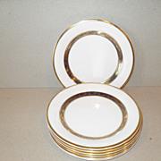 Royal Doulton 'Harlow' H5034 Cobalt/Gold Salad Plate (7)