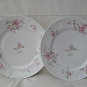 GDA Haviland Limoges Pink Roses Dessert Plates