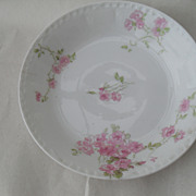 Elegant GDA Haviland Limoges Pink Roses Berry Bowl