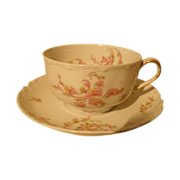 Haviland Limoges The Norma Floral Teacup and Saucer