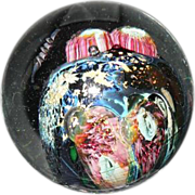 Signed Marble Josh Simpson Lucite Base Inhabited Planet