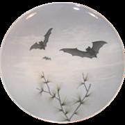 Antique Royal Copenhagen Arts & Crafts Bat Plate 22